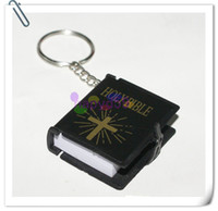 Promotion bible movies - High quality English Christian Gospel Christmas gifts crafts mini bible keychain God day school supplies prizes key ring