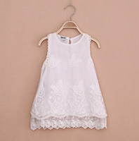 TuTu Summer A-Line Wholesales 2014 summer new Baby, Kids Clothing Children's girls lace skirts jacquard fashion dance party tutu lace vest dress HH-156
