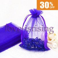 Wholesale High Quality Dark Blue Color cm cm quot x6 quot Sheer Organza bag Wedding Favor Gift Bag Party Favor Gift Wrapping Bag Free Shippig