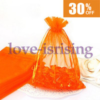 Wholesale High Quality Orange Color cm cm quot x6 quot Sheer Organza bag Wedding Favor Gift Bag Party Favor Gift Wrapping Bag Free Shippig