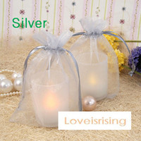 Wholesale Silver Color cm cm quot x6 quot Sheer Organza bag Wedding Favors Gift Wrapping Bag Colors