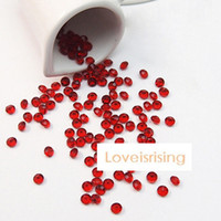 Wholesale Lowest Price mm Carat Dark Red Diamond Confetti Faux Acrylic Bead Table Scatter Wedding Favors Party