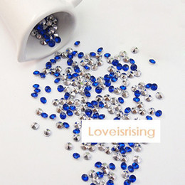 Wholesale Lowest Price mm Carat Dark Blue With Silver Plated Faux Acrylic Bead Table Scatter Wedding Favors Party