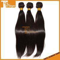 Straight machine Brazilian Hair Hot Sale Brazilian Virgin Hair Weave Silky Straight 3pcs Lot Cheap Human Hair Extensions Remy Hair Weft 100% Unprocessed Hair Can Dye Bleach