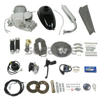 Wholesale US Ship NEW SILVER Black Motorized Bicycle cc Stroke Gas Engine Motor Kit G2