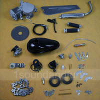 Wholesale US Ship Silver Black Motorized Bicycle cc Stroke Gas Engine Motor Kit G2