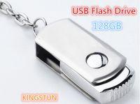 Venta al por mayor - impulsión del flash del disco del palillo U de la memoria del USB del anillo de la cadena dominante del metal del USB 2.0 de 128GB DHL libre EMS708G