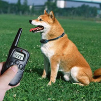 Wholesale Retail Brand NEW meters Remote levels of vibration Electric Shock Anti bark Pet Dog Training Collar with LCD display