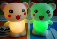Wholesale Colorful Happy Bear Night Lamp LED with AG13 cell battery EVA material Shenzhen Exports