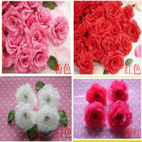 Wholesale Artificial flowers roses head silk wedding flower corsage flower vine flower arches flower road lead