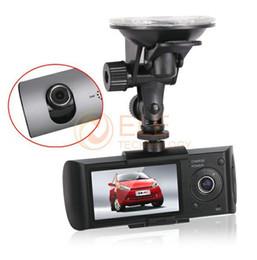 """Cámaras de lentes de porcelana en venta-Nuevo Diseño R300 del coche DVR grabadora de vídeo con el maderero del G-Sensor dual de la lente de la cámara del coche 2.7 """"Pantalla LCD"""