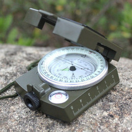Professional Pocket outdoor waterproof multifunctional geology compasses with neon light