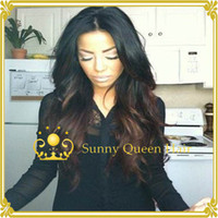 Wholesale 130 density two tone color wig B wavy ombre lace front wig brazilian hair