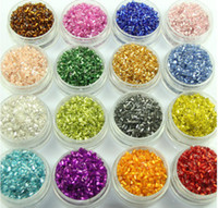 Seed Angel mix color Wholesale - Fashion 40g lot 2*2mm 16 colors for chose colorful DIY Czech Loosetube pillar glass seed beads jewelry findings