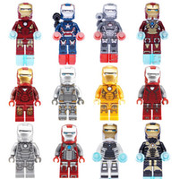 Wholesale Iron Man Series Figures Building Block Sets Minifigures Educational DIY Bricks Toys