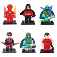 Wholesale The Flash Super Hero Figures Toys Building Block Sets The Avengers Minifigures Assemblage DIY Bricks Toys For Children