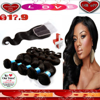 Wholesale 14 OFF VALENTINE S DAY SALE A Virgin Brazilian Hair Pc Lace Closure With Hair Bundles Dyeable Best Quality Accept Returns