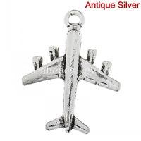 Charms aeroplane charms - Charm Pendants Airplane Aeroplane Antique Silver cm x cm quot x quot B30174