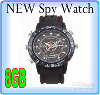 8G Yes  Spy Watch camera Video Recorder 8GB Hidden Camera DVR Waterproof Camcorder 1pc lot