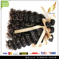Wholesale Mix Length Unprocessed quot quot European Malaysian Brazilain Indian Peruvian Virgin Remy Hair Weft Natural Color Deep Wave About g
