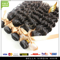 100 natural human hair - Brazilian Hair Bundles Remy Human Hair Peruvian Virgin Hair Malaysia Indian Mongolian Deep Wave Natural Human Hair Weave Cheap Hair pc