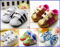Unisex Summer Cotton 32-STYLE!Promotions - Velcro baby shoes. 0-18 months, newborn shoes. China casual shoes. Baby toddler shoes.baby wear 8pairs 16pcs CL
