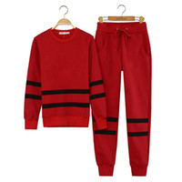Wholesale Nice_baby Jogging European Fashion Women SET FAKE CC Sport Suit Tracksuit Sweatsuit Sweater Hoodies Sportswear Red Black Colours S M L