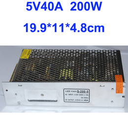 Free Shipping, Switching Power 5V 40A 200W Driver For LED Strip light AC100V-240V Input, CE&RoHS Certified