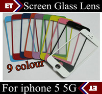 For Apple iPhone   DHL 100PCS original Front Glass Screen Lens Part Replacement for Apple iPhone 5 5G black White JP7