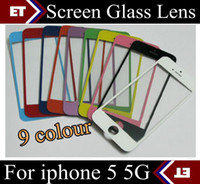 For Apple iPhone   DHL 200PCS original Front Glass Screen Lens Part Replacement for Apple iPhone 5 5G black White JP7