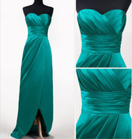Wholesale Teal Satin Bridesmaid Dress - Buy Cheap Teal Satin ...