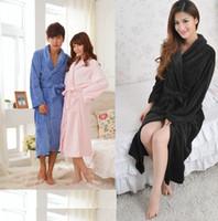 Wholesale Winter lovers pajamas coral velvet pajamas nightgown bathrobe men women