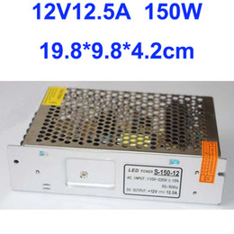 Free Shipping 150W LED Strip light Switching Power Suply 12V 12.5A Driver AC100V-240V Input, CE&RoHS Certified 2 Year Warranty