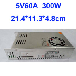Free Shipping, 300W 5V 60A Switching Power Supply Driver For LED Strip light AC100V-240V Input, CE&RoHS Certified