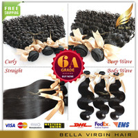 Chinese Hair hair products - 8 quot quot Full Head Brazilian Virgin Remy Hair Weft Queen Hair Products Natural Color DHL Texture Bella Hair Extensions A