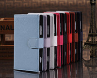 For Apple iPhone Leather Nokia Low price Litchi Magnetic Clasp Card Wallet PU Leather Flip Case Cover for Nokia Lumia 920, Cell Phone Accessories Free Shipping