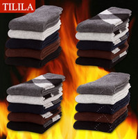 Wholesale TILILA men socks pairs man terry socks for autumn winter men floor warm socks multi colors