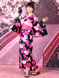 Wholesale Grace Black Rose Print Cotton Slub Women s Kimono r29 u6 MBs
