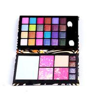 Christmas makeup kit - Professional Makeup Meet Matte Eye Shadow Palette color Eyeshadow Blush Foundation Small Make Up Kit Palette