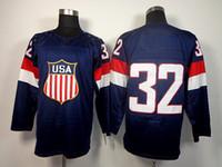 Cheap 2014 Sochi Olympics Team USA #32 Jonathan Quick Hockey Jersey Fast & Free Shipping Stitched Numbers