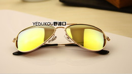 Wholesale New Aviator Sunglasses Men Women Designer Pilot Colorful Frame Colorful Mirror Sun Glasses Mixed Colors