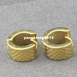 fashion 18K gold plated hoop earrings stainless steel punk biker men earrings jewelry wholesale hoop earrings EH-019