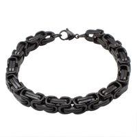 men's jewelry black braclets & bangles stainless steel c...