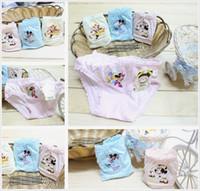 Wholesale Children s Briefs Baby Girls Underwear Kids Cartoon Printing Modal Briefs Underwear Mixed Colors Summer