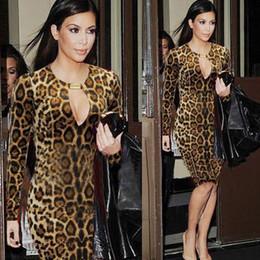New Fashion European Style Women Dresses Temperament Leopard-print Slim Fit Sexy Dresses 4colors