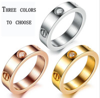 Wholesale Hot sale Titanium steel ring rose gold ring silver ring lover ring screwdriver fashion jewelry women wedding ring