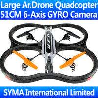 Wholesale 51CM Big Large Ghz CH With SPY Camera Cam Axis GYRO RC Quadcopter VS Parrot AR Drone WL V262 V959 U818A Helicopter X30V Ar Drone