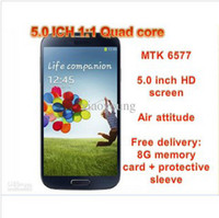 Wholesale HOT I9500 S4 quot inch MTK6572 Dual Core X540 ich Dual card dual sta Bluetooth GPS WiFi Dual Camera Unlocked Smart Mobile Cell Phone