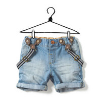 Jeans Unisex Spring / Autumn Retail 1 pcs 2013 children's denim suspenders shorts baby bib pants jeans for boys girls Fashion high quality CCC022