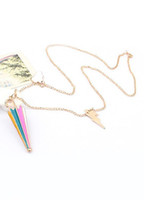 Pendant Necklaces Party Acrylic, Resin, Lucite Umbrella Shape Multi Color Acrylic Women's Fashion Necklace r64 #u11-1oVU